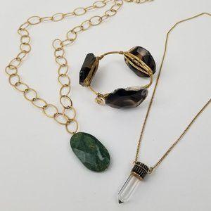 Bourbon & Bowties Stone Gold Bangle Jewelry Bundle